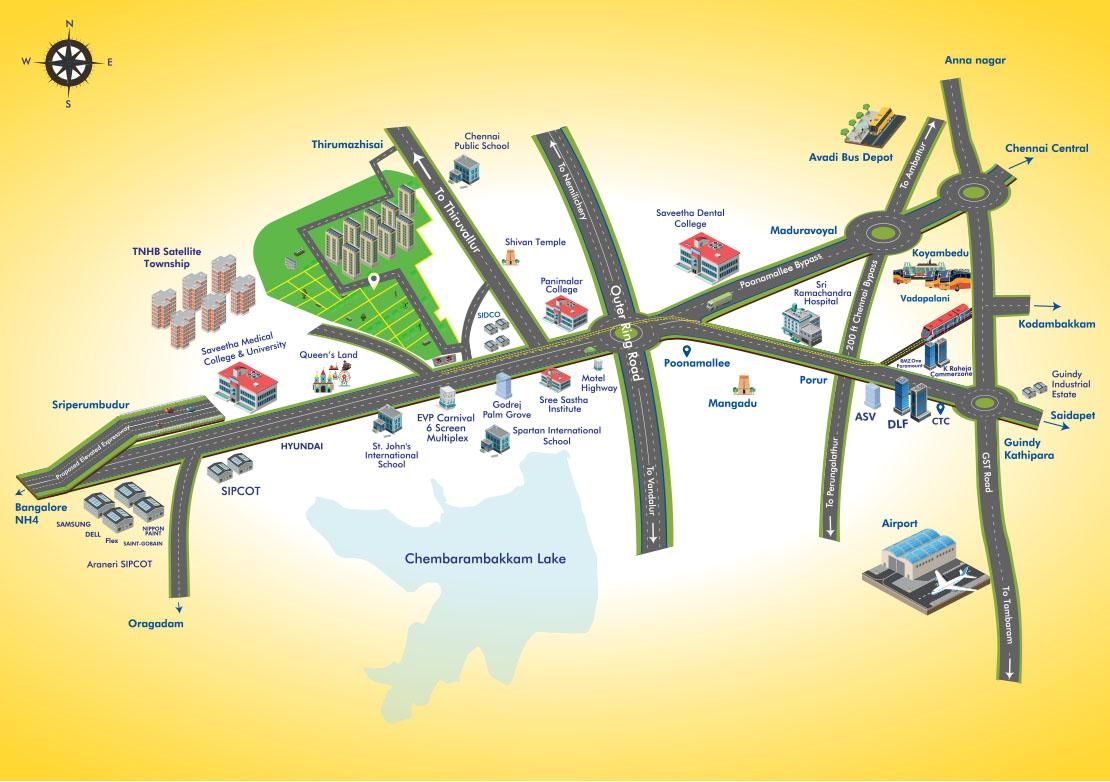 Thirumazhisai plots Location